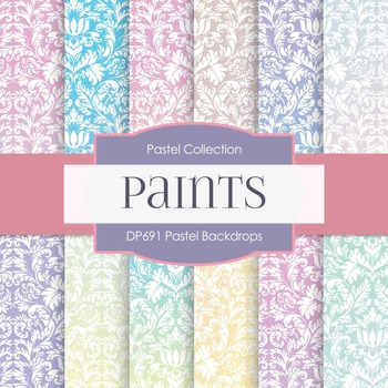 Digital Papers - Pastel Backdrops (DP691)
