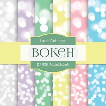Digital Papers -  Pastel Bokeh (DP1051)