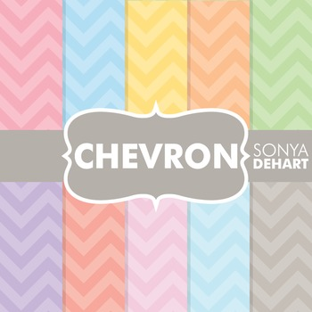Digital Papers -  Pastel Chevrons