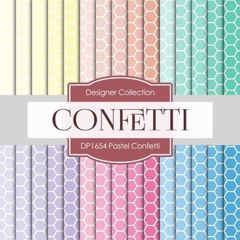 Digital Papers - Pastel Confetti (DP1654)