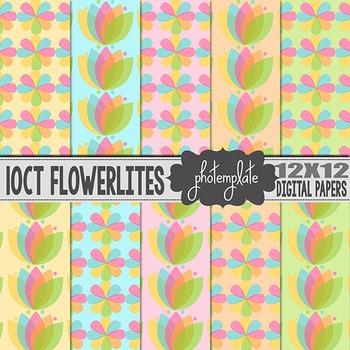 Digital Papers: Pastel Flowers Scrapbooking Paper