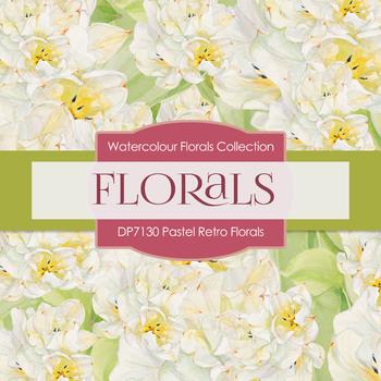 Digital Papers - Pastel Retro Florals (DP7130)