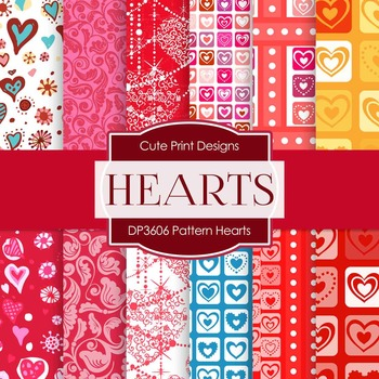 Digital Papers - Pattern Hearts (DP3606)