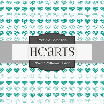 Digital Papers - Patterned Heart (DP6237)