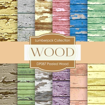 Digital Papers - Peeled Wood B (DP087)