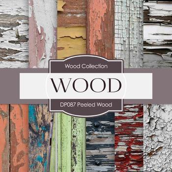 Digital Papers - Peeled Wood (DP087)