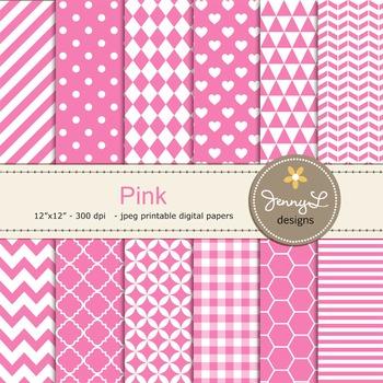 Digital Papers : Pink