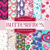 Digital Papers - Pink Butterflies (DP2132)