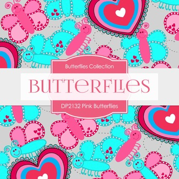 Digital Papers - Pink Butterflies (DP2132)
