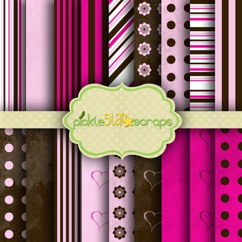 Digital Papers Pink Chocolate