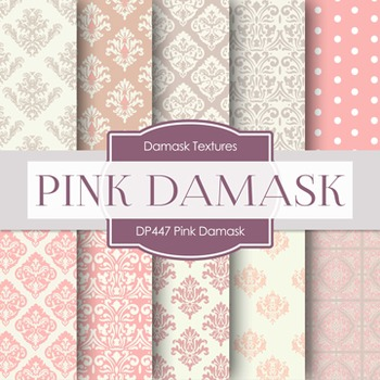 Digital Papers - Pink Damask (DP447)