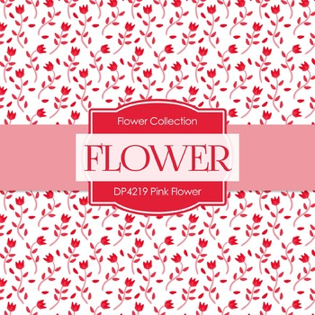 Digital Papers - Pink Flower (DP4219)