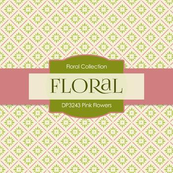 Digital Papers - Pink Flowers (DP3243)