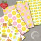 Lemonade Stand Digital Papers, Lemon Backgrounds, {Best Teacher Tools} AMB-1195
