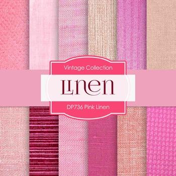 Digital Papers -  Pink Linen (DP736)