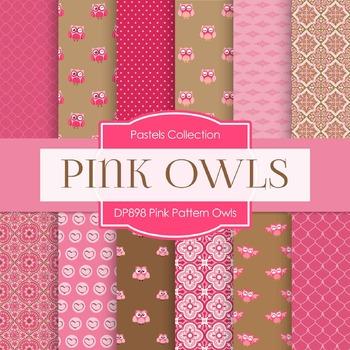 Digital Papers - Pink Pattern Owls (DP898)