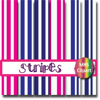 Digital Papers- Pink and Navy