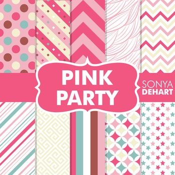 Digital Papers -  Pink party