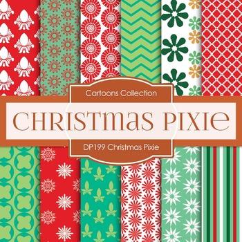 Digital Papers - Christmas Pixie (DP199)