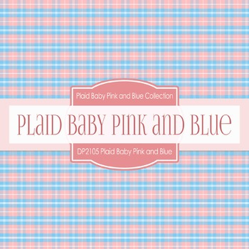 Digital Papers - Plaid Baby Pink And Blue (DP2105)