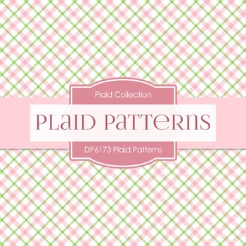 Digital Papers - Plaid Patterns (DP6173)