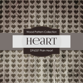 Digital Papers - Plain Heart (DP6337)