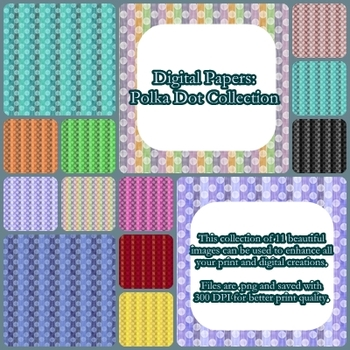 Digital Papers Polka Dot Collection