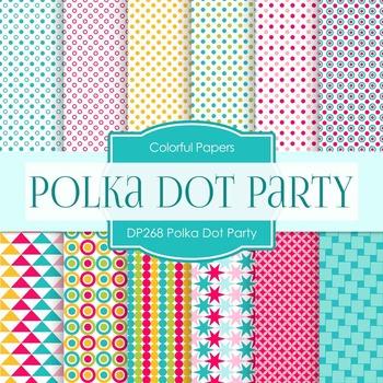 Digital Papers - Polka Dot Party (DP268)