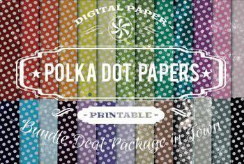 Digital Papers - Polka Dot Patterns Bundle Deal