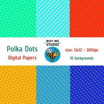 Digital Papers: Polka Dots