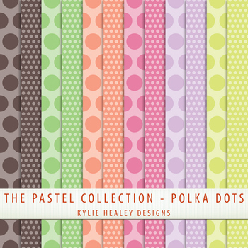 Digital Papers - Polka Dots from the Pastel Collection
