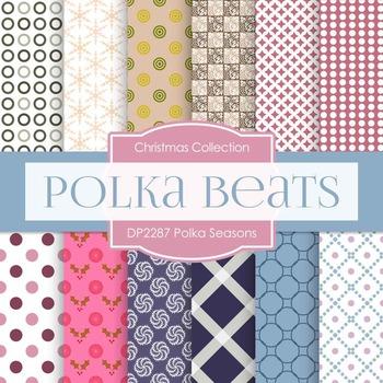 Digital Papers - Polka Seasons (DP2287)