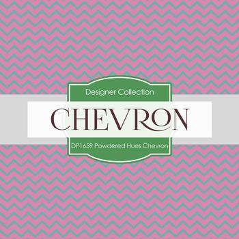 Digital Papers -  Powdered Hues Chevron (DP1659)
