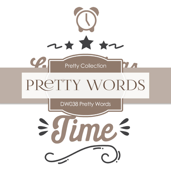 Digital Papers - Pretty Words (DW038)