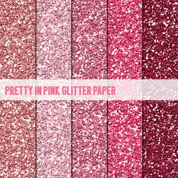 Digital Papers ~Pretty in Pink~ Glitter Paper {Ink n Little Things}