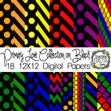 Digital Papers - Primary Colors on Black {Personal and Com