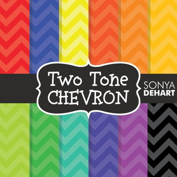 Digital Papers -  Primary Secondary Tertiary Two Tone Chevron