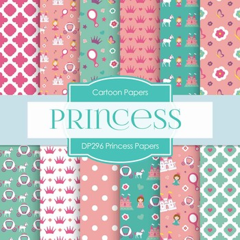 Digital Papers - Princess Papers (DP296)