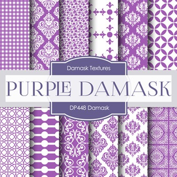 Digital Papers - Purple Damask (DP448)