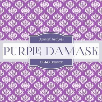 Digital Papers - Purple Damask (DP448)