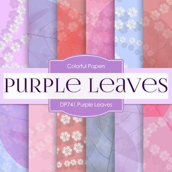 Digital Papers -Purple Leaves (DP741)