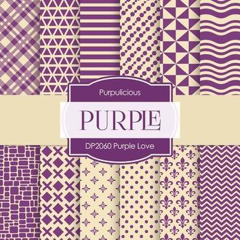 Digital Papers - Purple Love (DP2060)