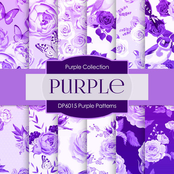 Digital Papers - Purple Patterns (DP6015)