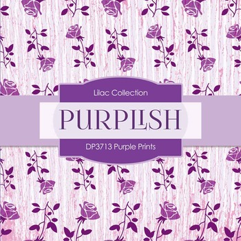 Digital Papers - Purple Prints (DP3713)