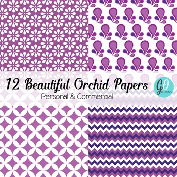 Purple and White Patterned Papers