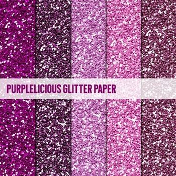 Digital Papers ~Purplelicious~ Glitter Paper {Ink n Little