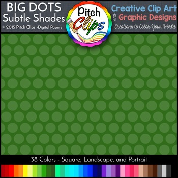 Digital Papers: RAINBOW BRIGHTS - Big Dots Subtle Shades -