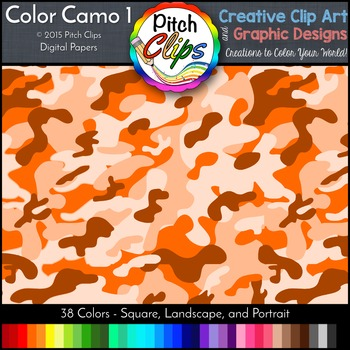 Digital Papers: RAINBOW BRIGHTS - Camo 1 - 38 Colors