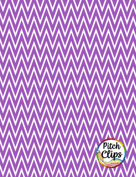 "Digital Papers: RAINBOW BRIGHTS - Steep Chevron - 38 Colors, 12"" & letter"
