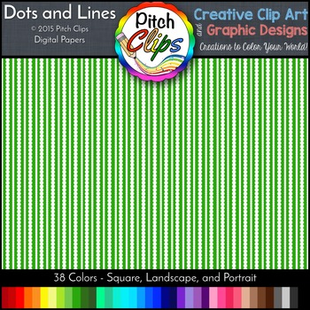 Digital Papers: RAINBOW BRIGHTS - Dots and Lines - 38 Colo